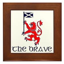The brave Scottish lion Framed Tile