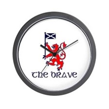 The brave Scottish lion Wall Clock