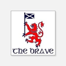 "The brave Scottish lion Square Sticker 3"" x 3"""