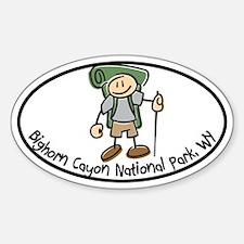 Bighorn Canyon Boy I Like to Hike Decal