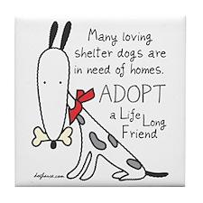Life Long Friend (Dog) Tile Coaster