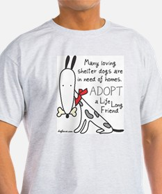 Life Long Friend (Dog) Ash Grey T-Shirt