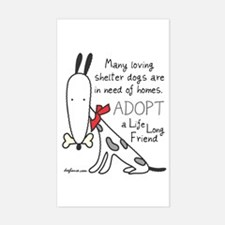 Life Long Friend (Dog) Rectangle Decal