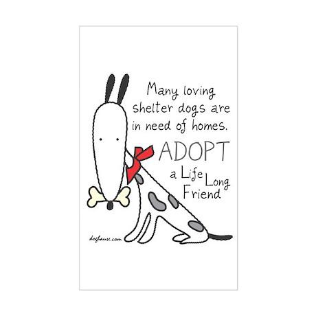 Life Long Friend (Dog) Rectangle Sticker