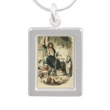 Ghost of Christmas Prese Silver Portrait Necklace