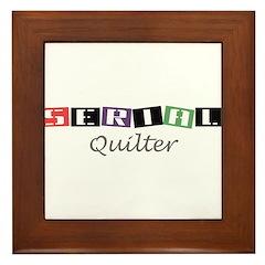 Serial Quilter Framed Tile