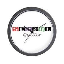 Serial Quilter Wall Clock