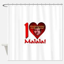 I (Heart) Malala Shower Curtain