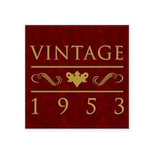 "Vintage 1953 Milestone Year Square Sticker 3"" x 3"""