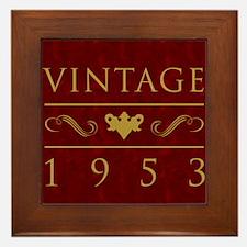 Vintage 1953 Milestone Year Framed Tile