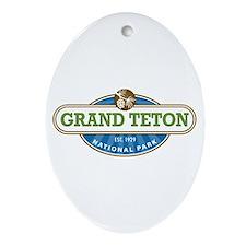 Grand Teton National Park Ornament (Oval)
