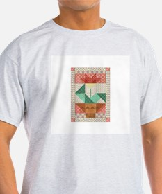 Flower Quilt Ash Grey T-Shirt