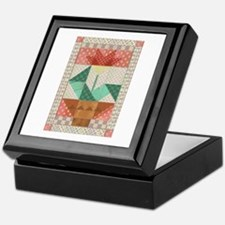 Flower Quilt Keepsake Box