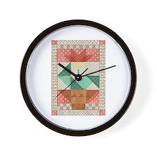 Flower Quilt Wall Clock
