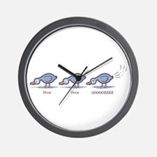 Duck Duck Gooz Wall Clock