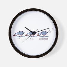 Duck Duck Gooz Wall Clock