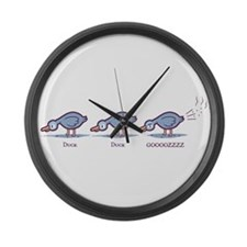 Duck Duck Gooz Large Wall Clock