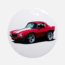 BabyAmericanMuscleCar_70Cam_Red Ornament (Round)