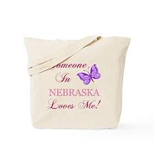 Nebraska State (Butterfly) Tote Bag
