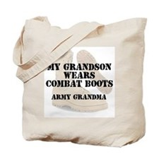 Army Grandma Grandson wears DCB Tote Bag