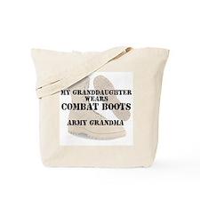 Army Grandma Granddaughter wears DCB Tote Bag