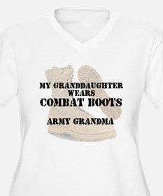 Army Grandma Granddaughter wears DCB Plus Size T-S