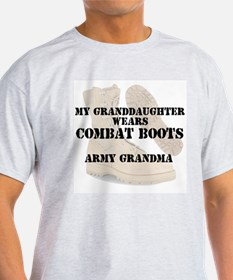 Army Grandma Granddaughter wears DCB T-Shirt
