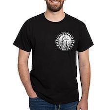 Freya Rune Shield on Blk T-Shirt