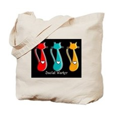 Social worker 5 Cats Tote Bag