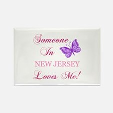New Jersey State (Butterfly) Rectangle Magnet