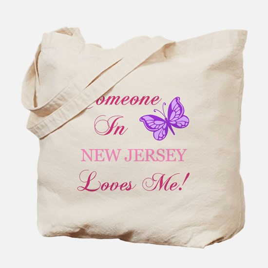 New Jersey State (Butterfly) Tote Bag