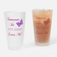 New Jersey State (Butterfly) Drinking Glass
