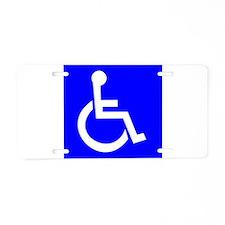 Handicap Sign Aluminum License Plate
