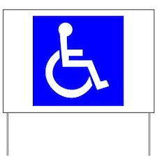 Handicap Sign Yard Sign
