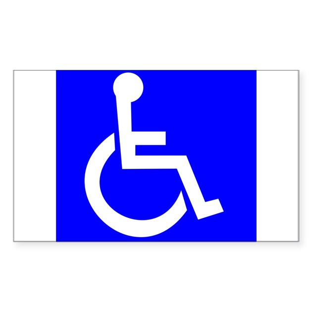 Handicap sign decal by signsandmoresigns for Kitchen colors with white cabinets with handicap sticker for car