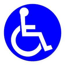 Handicap Sign Round Car Magnet