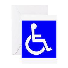 Handicap Sign Greeting Cards