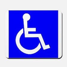 Handicap Sign Mousepad
