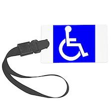 Handicap Sign Luggage Tag