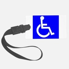 Handicap Sign Luggage Tag