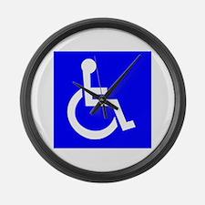 Handicap Sign Large Wall Clock