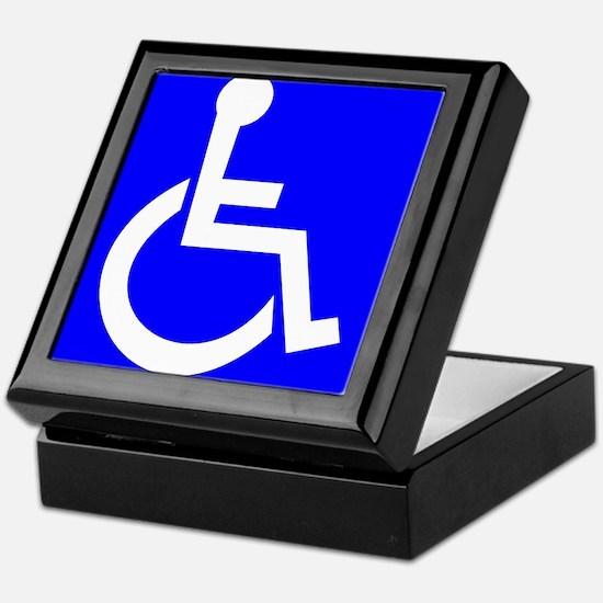 Handicap Sign Keepsake Box