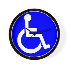 Handicap Sign Wall Clock