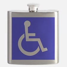 Handicap Sign Flask
