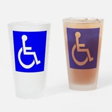 Handicap Sign Drinking Glass