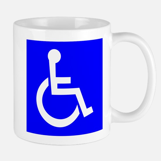 Handicap Sign Mugs