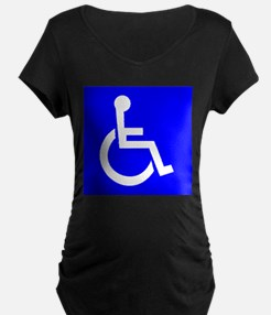 Handicap Sign Maternity T-Shirt
