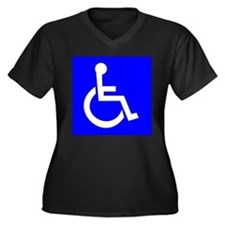 Handicap Sign Plus Size T-Shirt