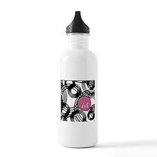 Stylish Weave Pattern Monogram Water Bottle
