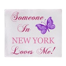 New York State (Butterfly) Throw Blanket